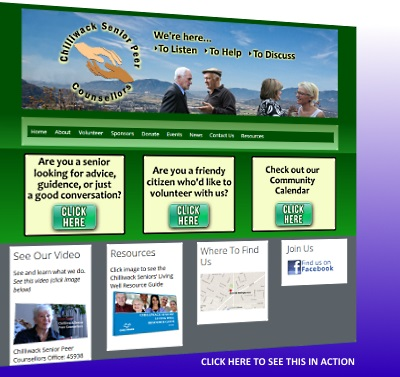 Chilliwack Senior Peer Counsellors - website